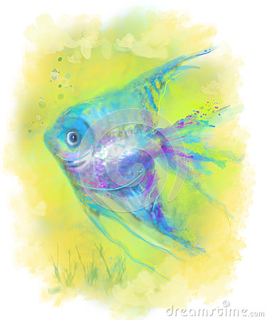 Free Abstract Fish Aquarium. Illustration Stock Images - 61496444