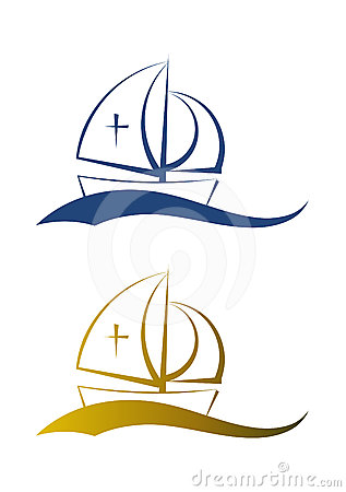 Abstract fishing boat illustration