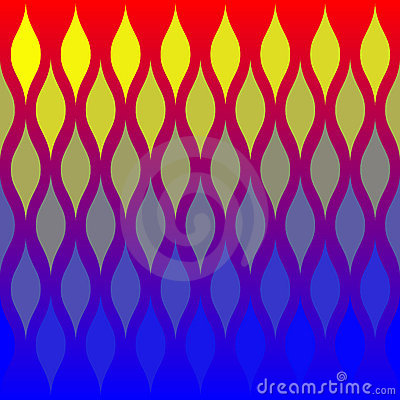 Abstract Flames Tile Pattern
