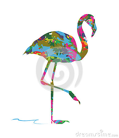 Free Abstract Flamingos Royalty Free Stock Image - 50949756