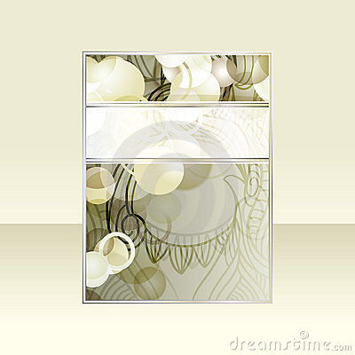 abstract flayer design