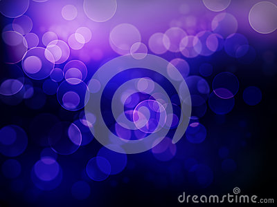 Abstract Floating Bokeh Background