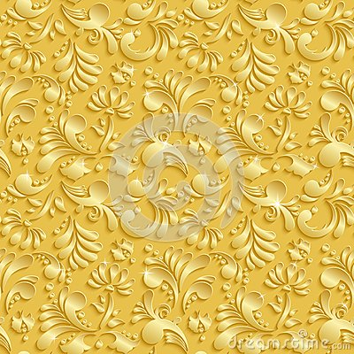 Free Abstract Floral 3d Seamless Pattern Stock Images - 49164454