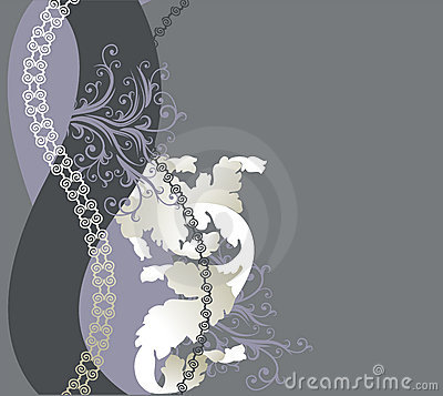 Abstract floral background with place for your tex