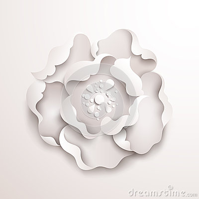 Abstract floral background white paper flower royalty free stock