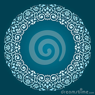 Free Abstract Floral Circular Frame Design Royalty Free Stock Photos - 45470658