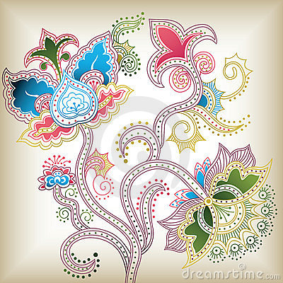 Abstract floral D