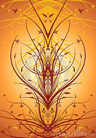 Abstract floral decorative vertical background vector illustrati