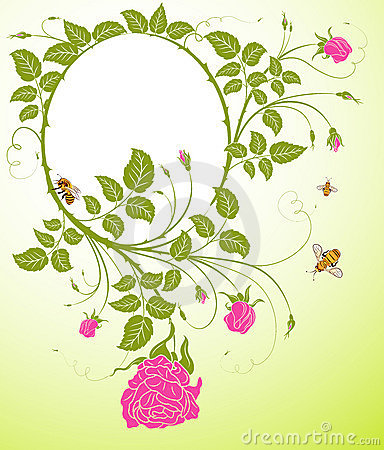 Free Abstract Floral Frame Royalty Free Stock Photos - 2285708