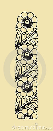Free Abstract Floral Frame, Elements For Design Stock Photography - 1543422