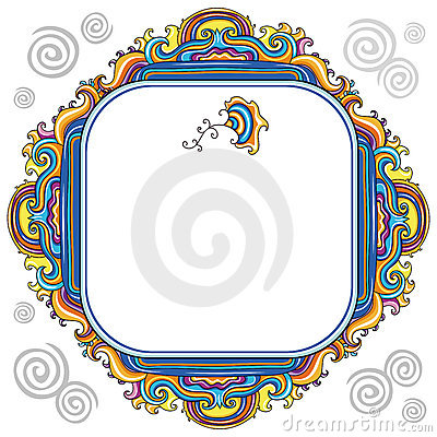 Abstract floral frame (series)