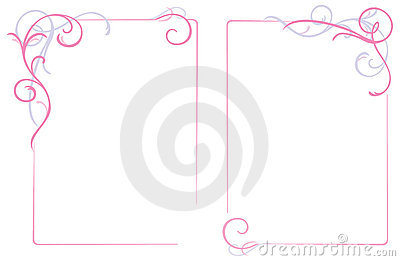 Abstract floral ornament frame