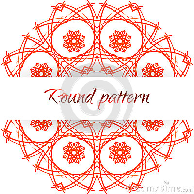 Abstract floral round pattern