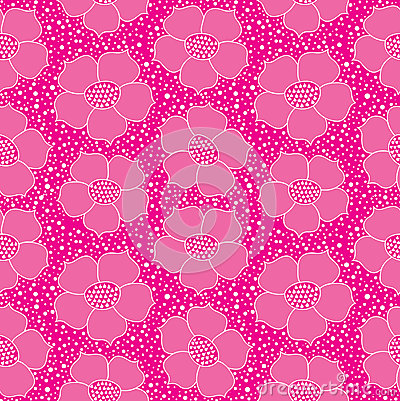 Abstract floral seamless bright background