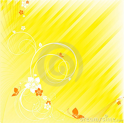 Abstract floral striped vector