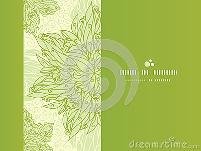 Abstract floral swirls horizontal seamless pattern