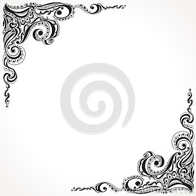 abstract floral tattoo pattern stock vector image 40033019. Black Bedroom Furniture Sets. Home Design Ideas