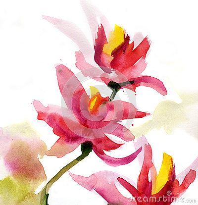 Free Abstract Floral Watercolor Stock Photos - 26958123