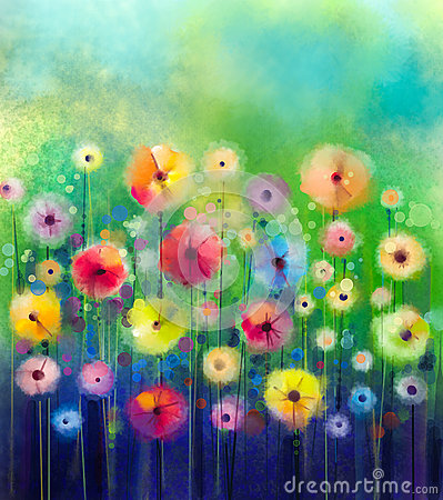 Free Abstract Floral Watercolor Painting. Royalty Free Stock Photography - 57816327