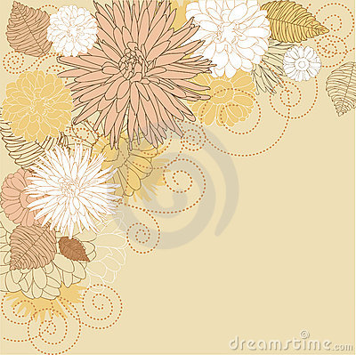 Abstract flourish background
