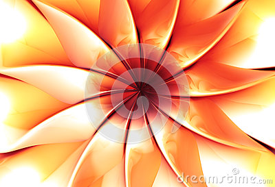 Abstract flower 3d illustration