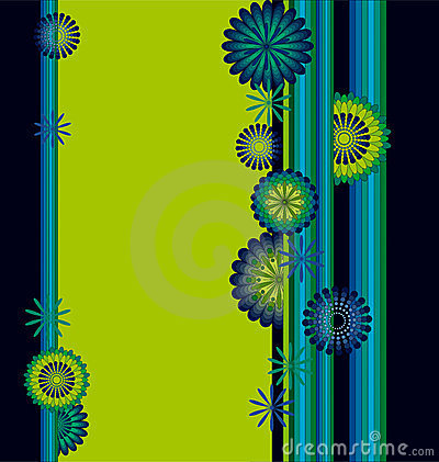 Abstract flower frame