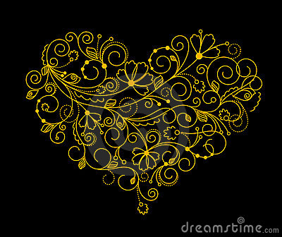Abstract flower heart