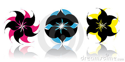 Abstract Flower icons - vector