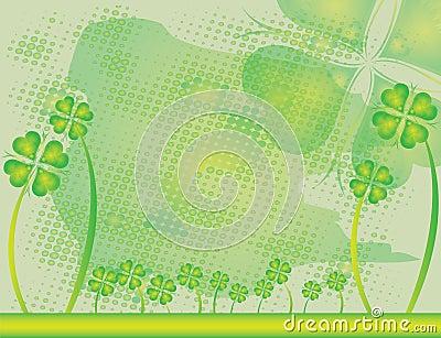 Abstract flower Illustration flower spring green