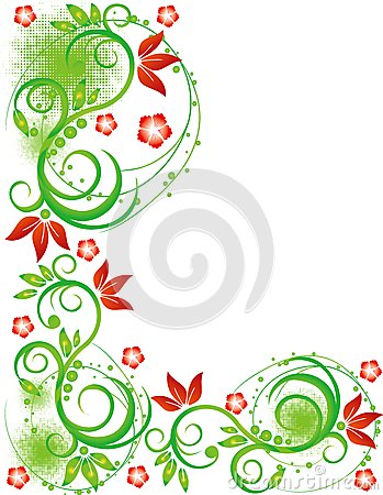 Abstract flower Illustration flower spring summer
