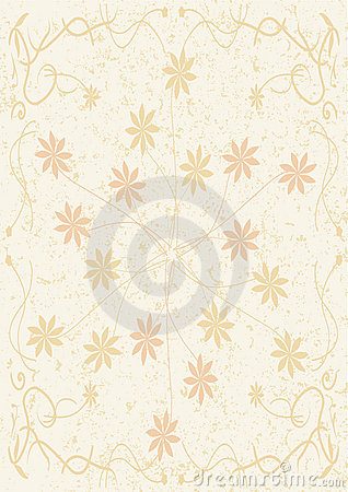 Abstract Flower And Paper Background_eps