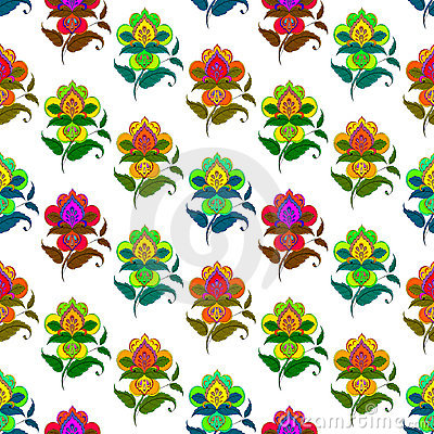 Abstract flower, seamless