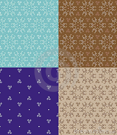 Abstract Flower Seamless Pattern Original Design