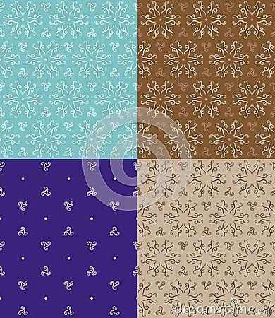 Abstract Flower Seamless Pattern Original Design