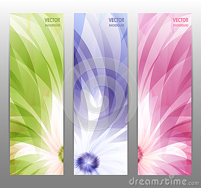Free Abstract Flower Vector Background / Brochure Template / Banner. Royalty Free Stock Image - 37979916