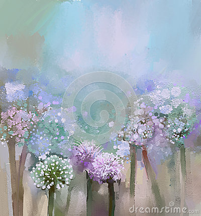 Free Abstract Flowering Onion Painting Stock Photography - 41887462