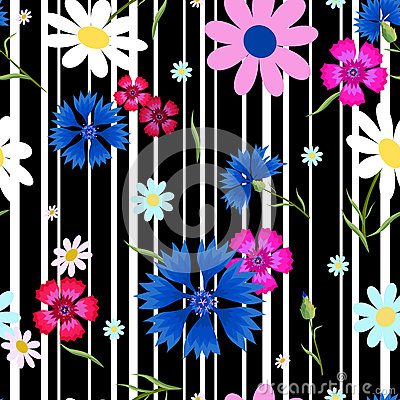 Free Abstract Flowers Cornflowers Stripes-01 Royalty Free Stock Photos - 92030858