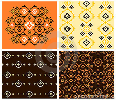 Abstract and folk patterns