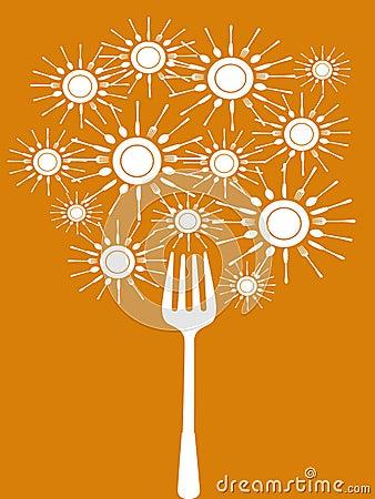 Abstract food tools tree