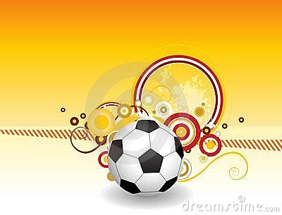 Abstract football art creative design