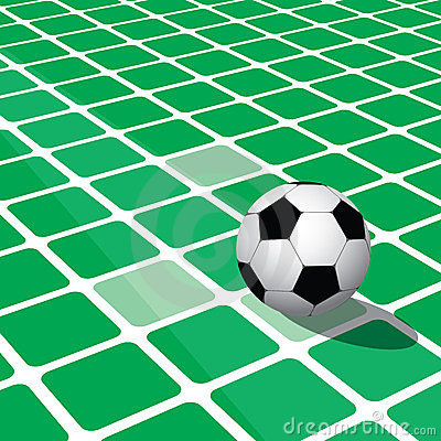 Abstract football background with square