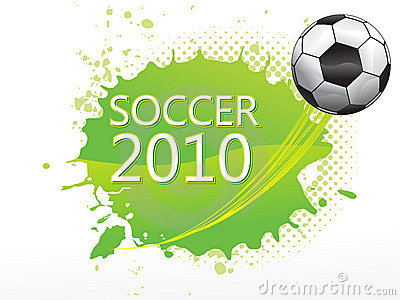 Abstract football with soccer text