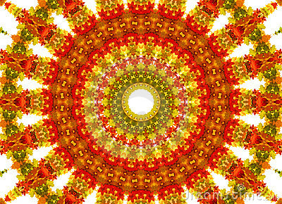 Abstract fractal background - autumn leaves