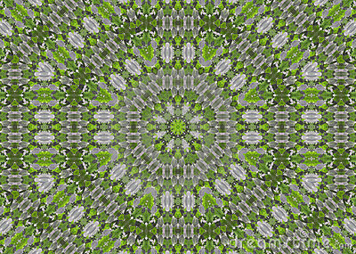 Abstract fractal background  - green leaves