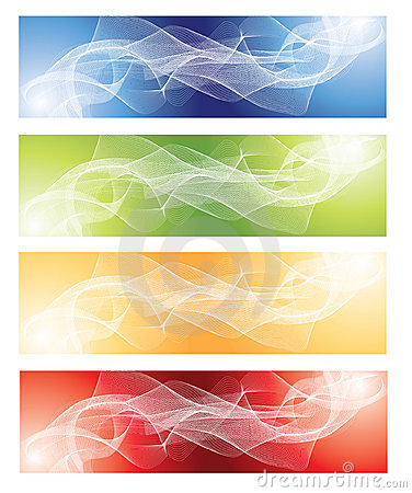 Abstract fractal background set