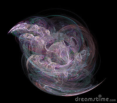Abstract fractal on black background