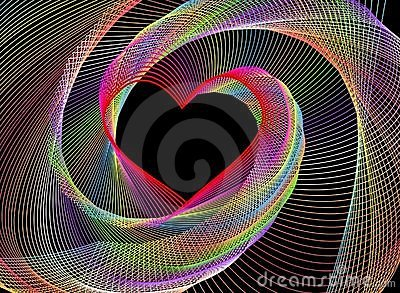 An abstract fractal heart-shaped background