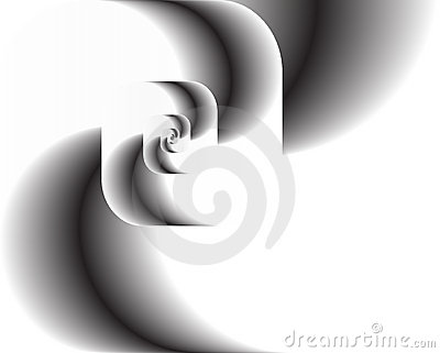 Abstract fractal twirl as logo, background