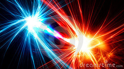 Abstract fractals with energy flow between them