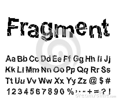 Abstract fragment font